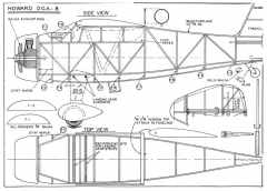 Howard DGA-8 Lindberg model airplane plan