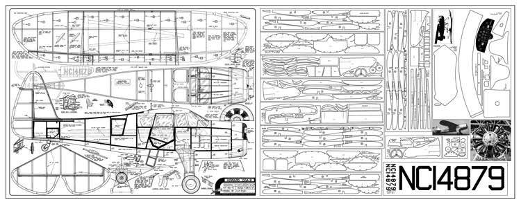 Howard DGA9 model airplane plan