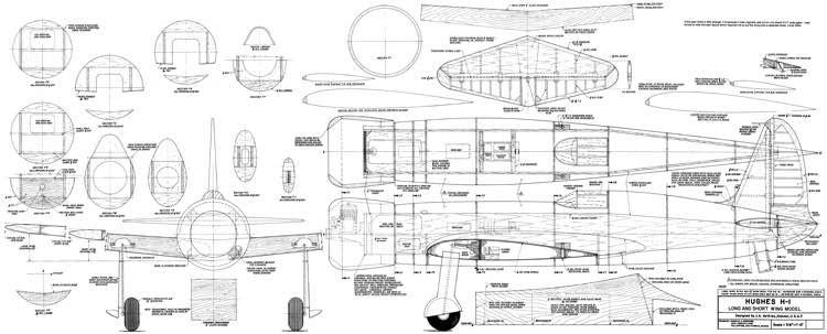Hughes H-1 Racer model airplane plan