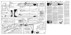 Hughes Racer model airplane plan