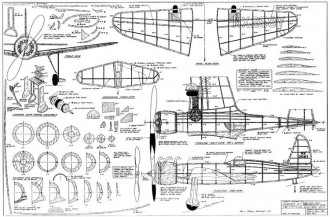 Hughes H-1 (Long wing transcontinental racer) model airplane plan