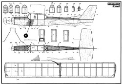 Humbrol Hornet model airplane plan