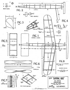 Humming Bird 24in model airplane plan