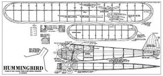 Hummingbird model airplane plan