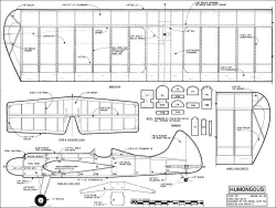 Humongous Stunt 54in model airplane plan