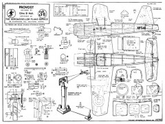 Hunting Provost RTP model airplane plan