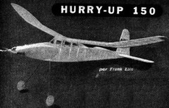 Hurry Up-150 model airplane plan