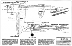 Hustler model airplane plan
