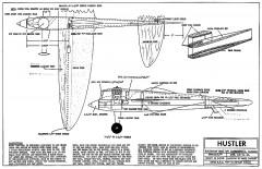 Hustler model airplane plan