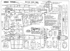 Hwker Typhoon 28in Astral model airplane plan