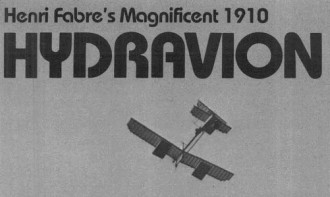 Hydravion model airplane plan