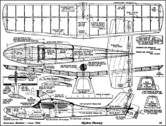Hydro Honey model airplane plan