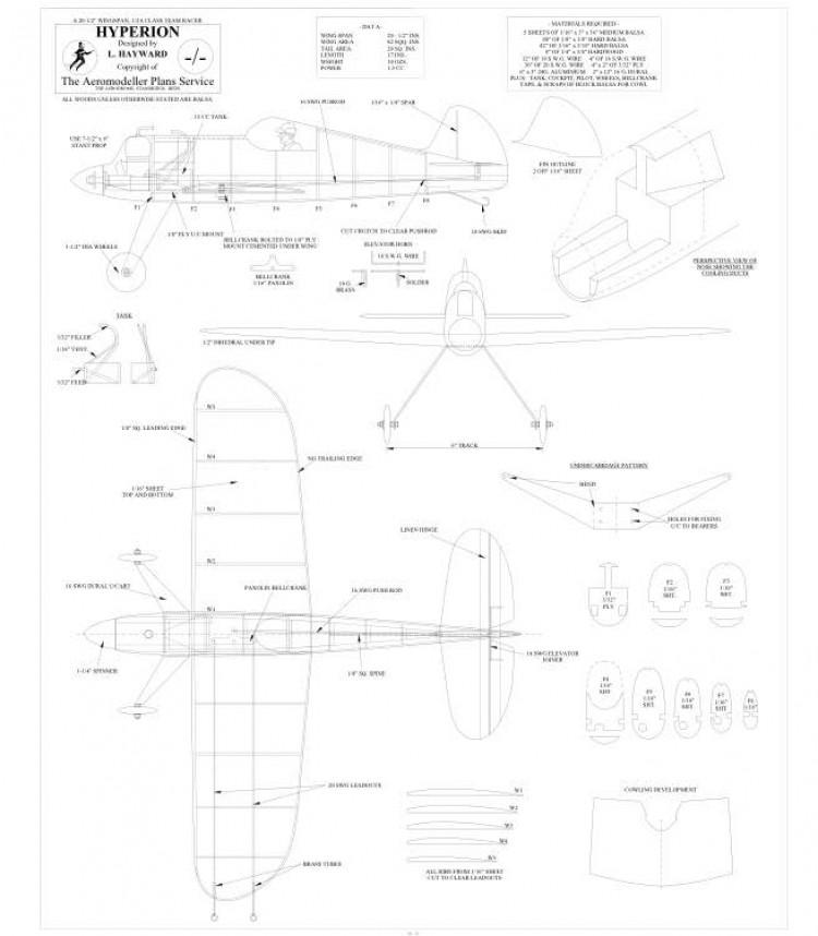 Hyperion model airplane plan