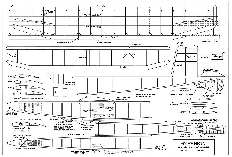 Hyperion model airplane plan