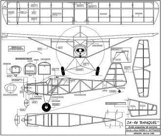 IA-46 Ranquel model airplane plan