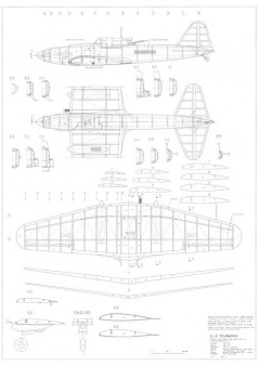 Ilyushin IL-2 Sturmovik model airplane plan