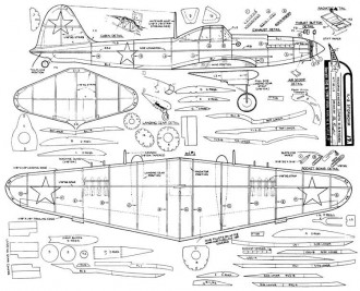 IL-2 Stormovik model airplane plan