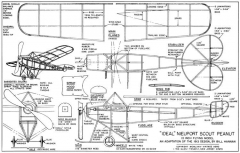 Ideal Nieuport Scout-Vintage Aero model airplane plan