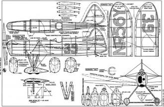 Ike-16 model airplane plan