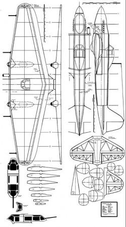 Ilyushin 2m Stormovik model airplane plan