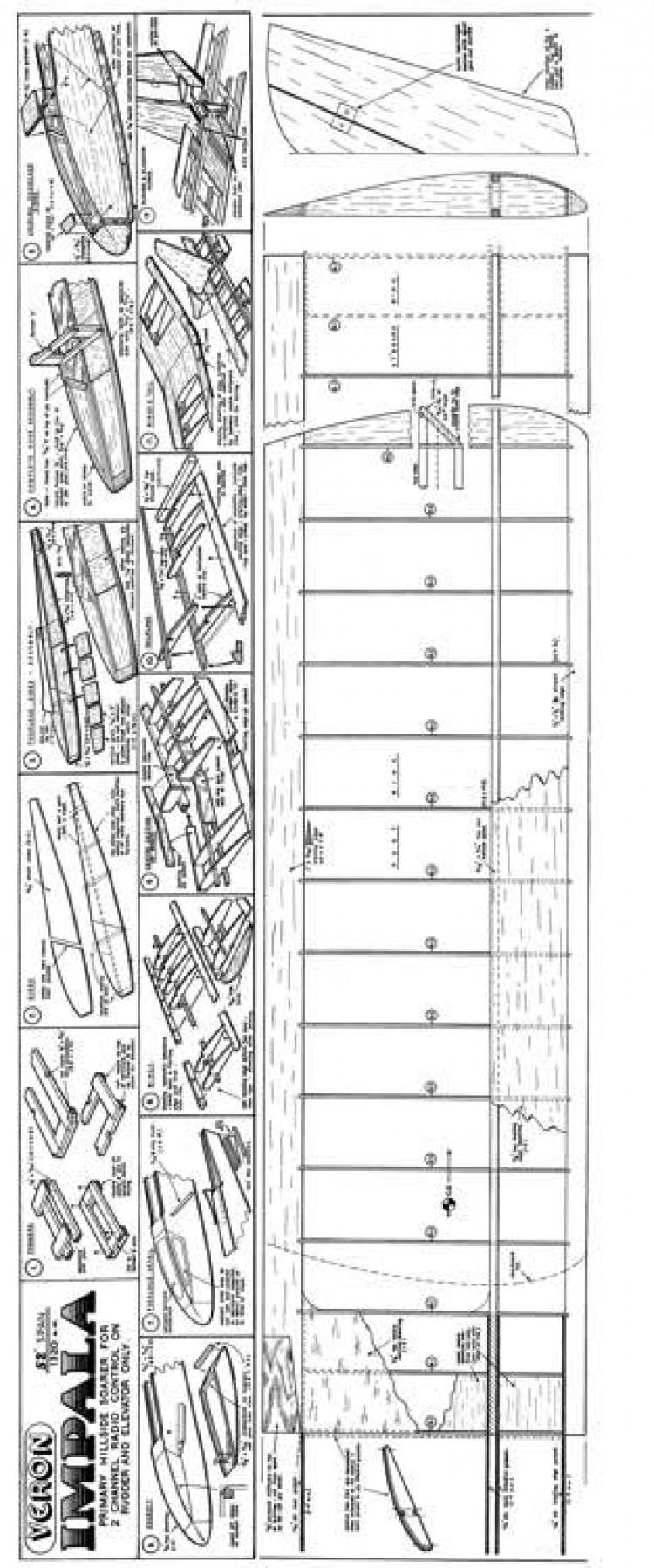 Impala model airplane plan