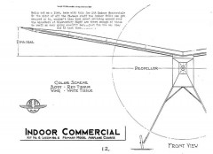 Indoor Commercial model airplane plan
