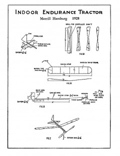 Indoor Endurance Tractor model airplane plan