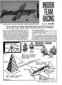 Indoor Team Racing model airplane plan
