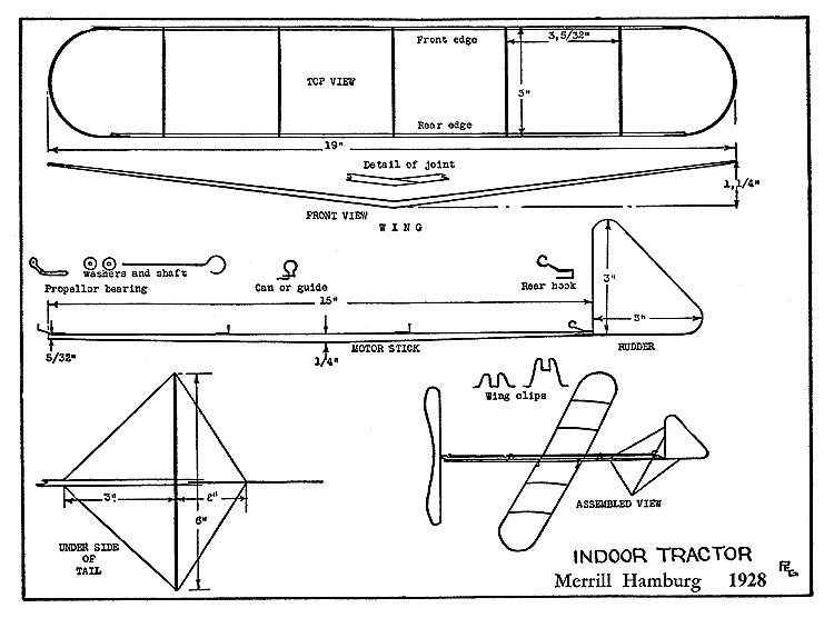 Indoor Tractor Hamburg model airplane plan