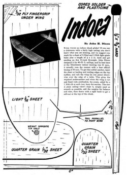Indora model airplane plan