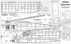 Infant Sportster model airplane plan