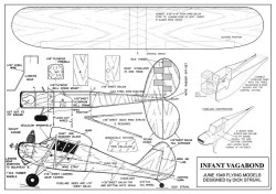 Infant Vagabond Plan model airplane plan