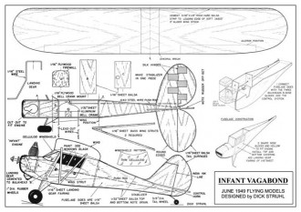 Infant Vagabond Plan model airplane plan