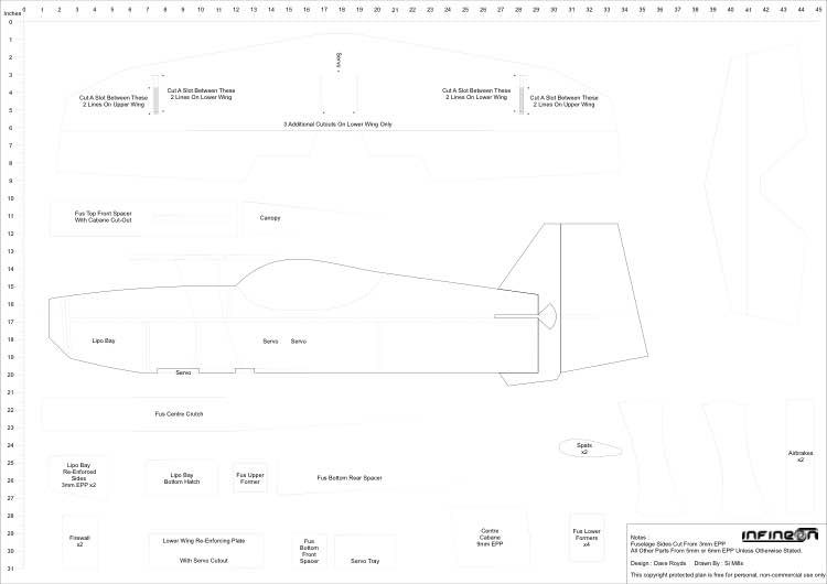 Infineon A0 Full Plans model airplane plan
