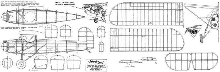 Inland-Sport model airplane plan