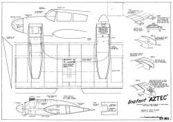 Instant Aztec model airplane plan