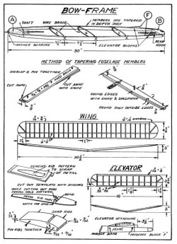 Insuror p1 model airplane plan