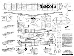 Interstate Super Cadet model airplane plan