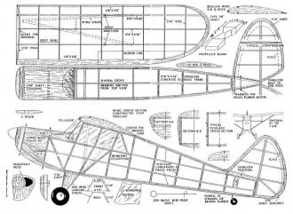 Interstate Cadet model airplane plan