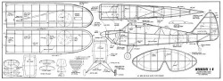 Interstate L-6 model airplane plan