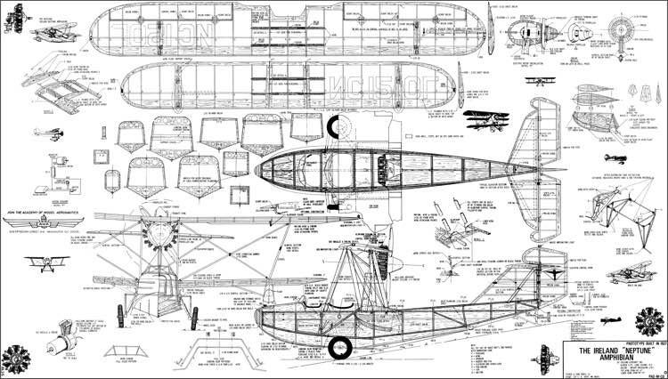 "The Ireland ""Neptune"" Amphibian model airplane plan"