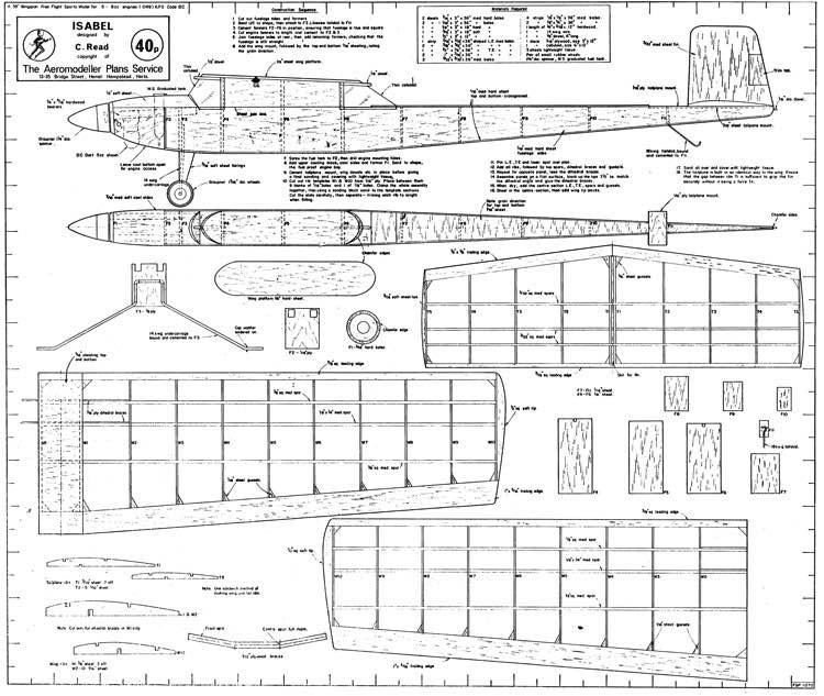 Isabel model airplane plan