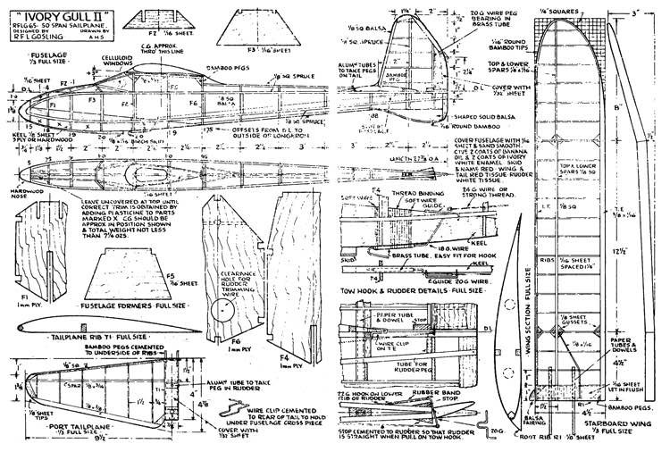 Ivory Gull 2 model airplane plan