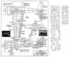 Swedish FFVS J 22 Jaktplan model airplane plan