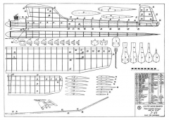 J-45 model airplane plan