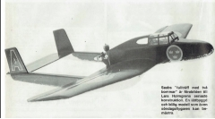 Saab J21 model airplane plan