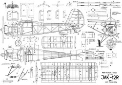 JAK-12R model airplane plan
