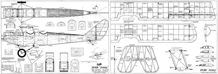 JN4D Jenny-AAM model airplane plan