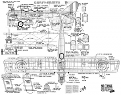 JN4 UC old model airplane plan