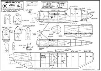 Jabberwocky model airplane plan